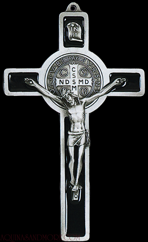 the st benedict medal it has an exorcism prayer right on