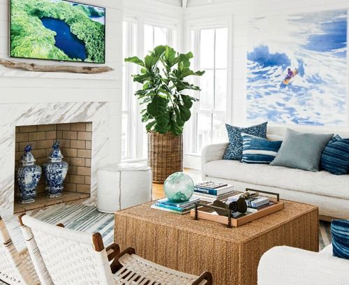 Surf's up in this Living Room: //www.completely-coastal.com ... on tropical gardens in florida, deserted island house, romantic island house, secure house, tropical beach house, desert island house, tuscan island house, tropical tree house, northwest coast house, cool island house, beach island house, tropical country house, tropical house plans, tropical mountain house, private island house, water island house, country island house, funny island house, tropical asian house, paradise house,