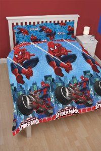 Character World Ultimate Spider Man City Double Rotary Duvet Set Co Uk Kitchen Home