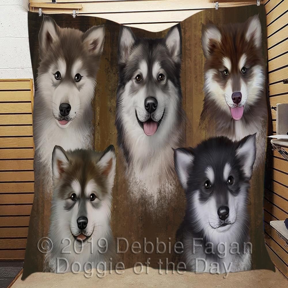 Rustic Alaskanmalamute Dogs Quilt Dog Quilts Dogs American