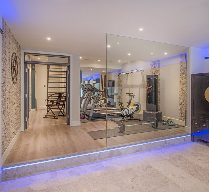 Home Gym Design Ideas Basement: 20 Energizing Private Luxury Gym Designs For Your Home
