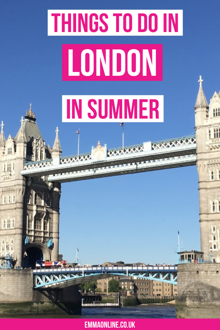 There is no other place like London in the summer. When the sun is shining London is the place to be. So, here are the best things to do in London on those long hot summer days. #london #travel #travellondon