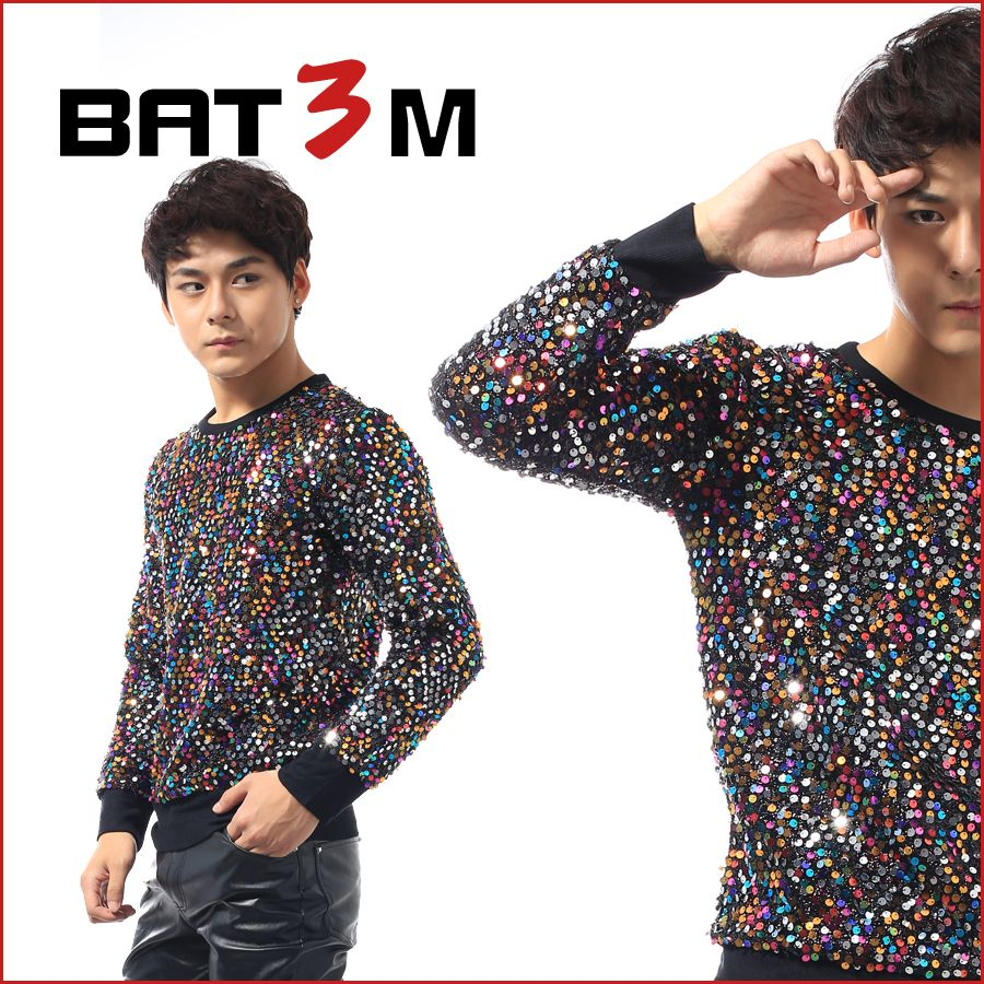 Click to Buy    Men T-shirt shirt sequins costume costumes male paillette  singer personalized novelty male top dancer party dj nightclub show   Affiliate 0cf7ea059cfb