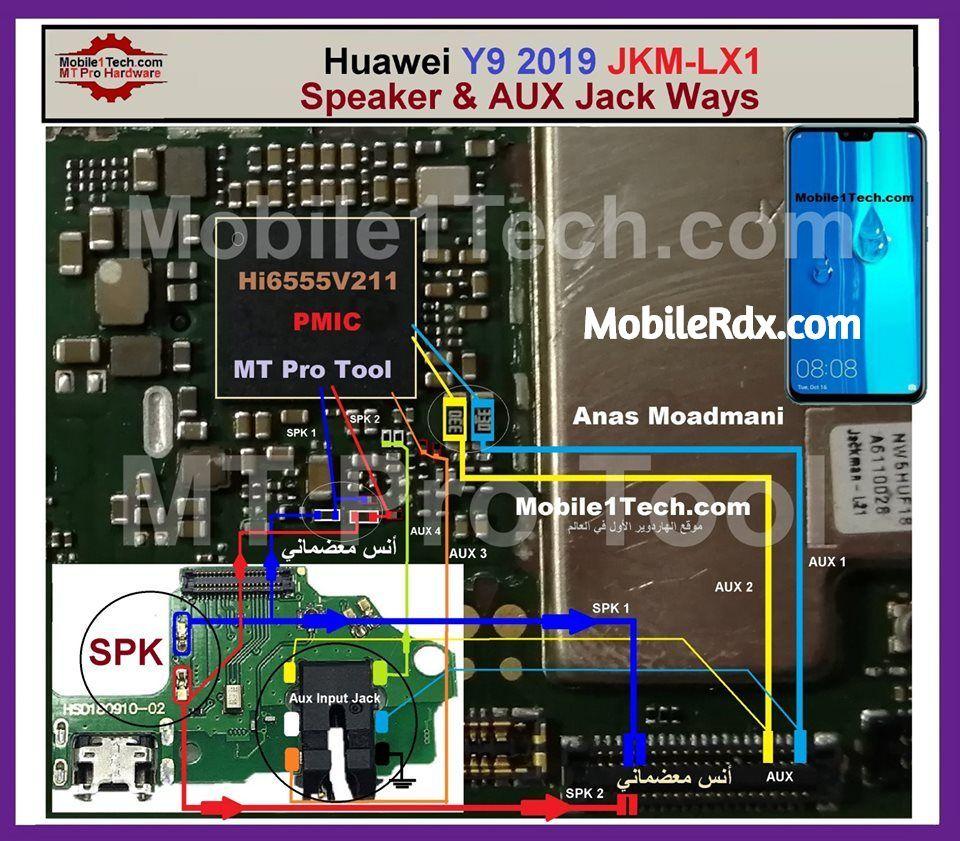 Huawei y9 2019 speaker ways headphone connector