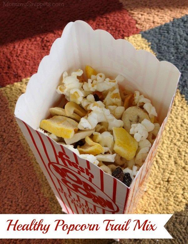 Healthy Popcorn Trail Mix for Movie Night {#StreamTeam}
