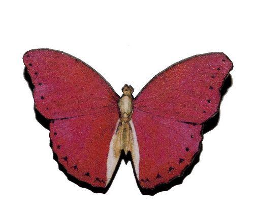 Broche Mariposa de madera III-4€ | PENDIENTERA