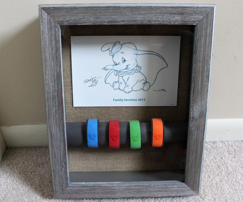 Diy turning magicbands into wall art diy magic band wall art create this look with a shadowbox frame empty gumiabroncs Images