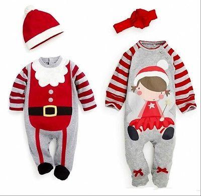 Attractive Christmas Newborn Baby Girl And Boy Winter Bodysuit