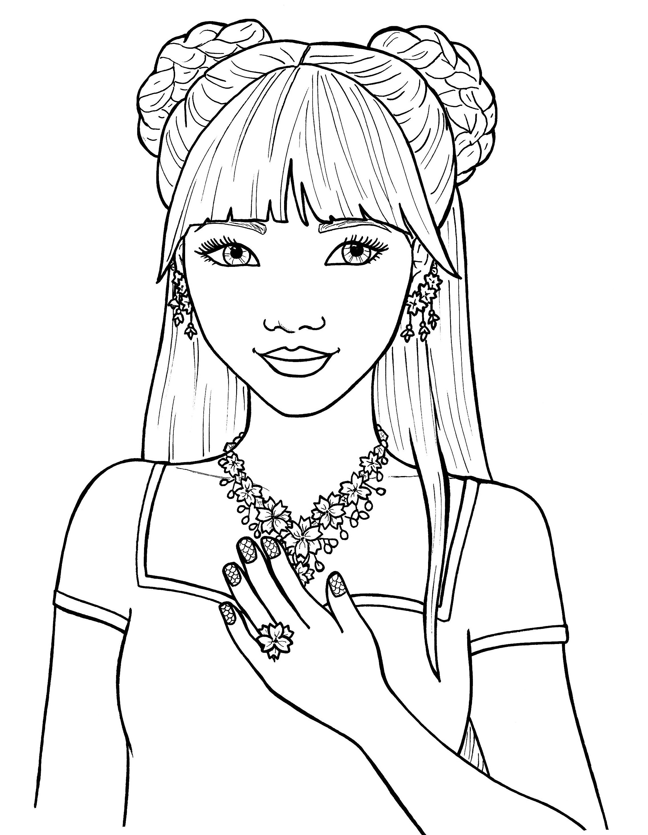 Pretty Girls Coloring Pages Free Printable Coloring Pages People Coloring Pages Cute Coloring Pages Coloring Pages For Girls