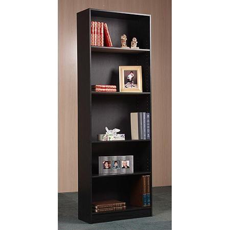 2822 Black Orion 5 Shelf Bookcase