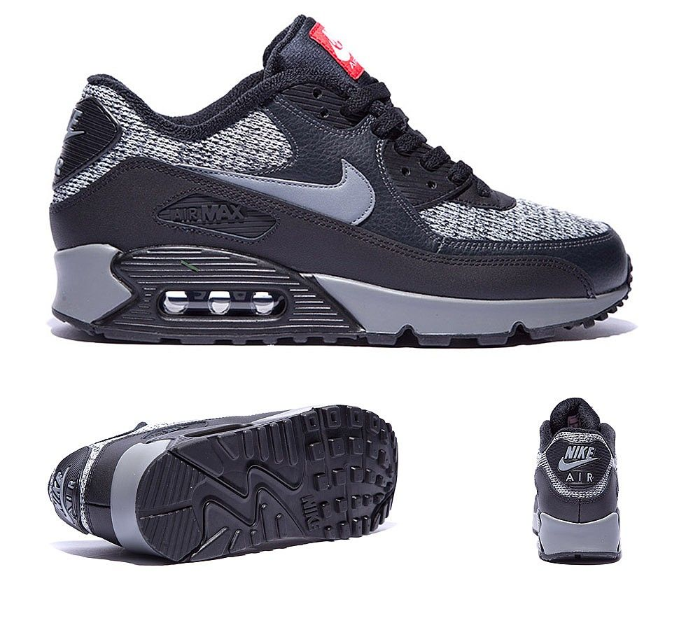 new arrival 449a7 a20f8 Nike Air Max 90 Essential  Wool Pack  Trainer   Black   Cool Grey    Anthracite   Footasylum