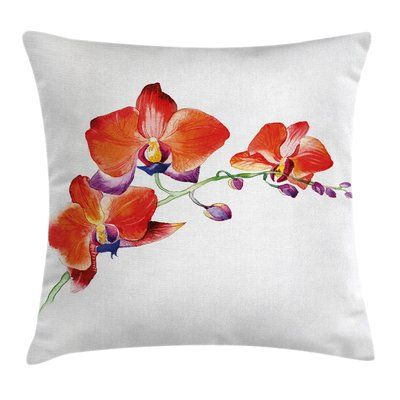 Ambesonne Flower Orchid Branch Blooms Pillow Cover Floral Throw Pillows Throw Pillows Pillows