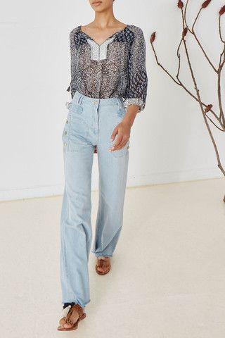 DENIM - Denim trousers Ulla Johnson TIN9W9CelI