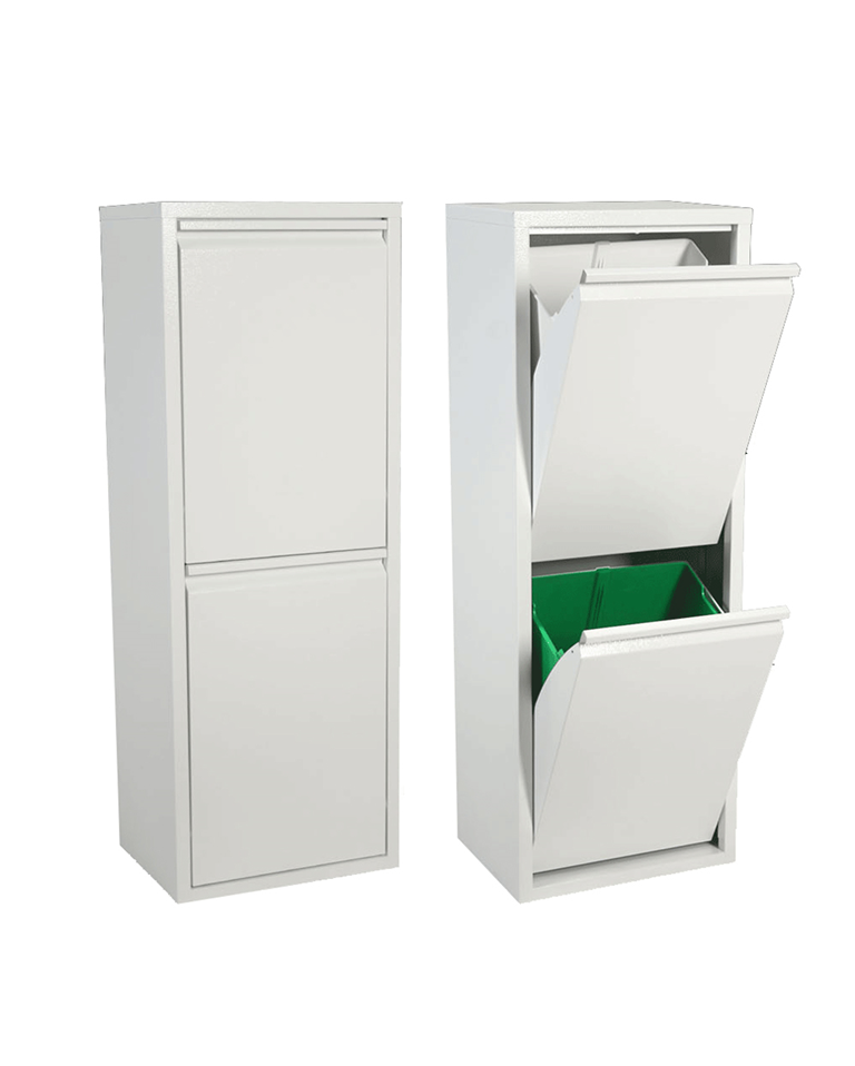 Papelera reciclaje 2 cubos la oca la tienda de for Lo mejor en muebles para el hogar