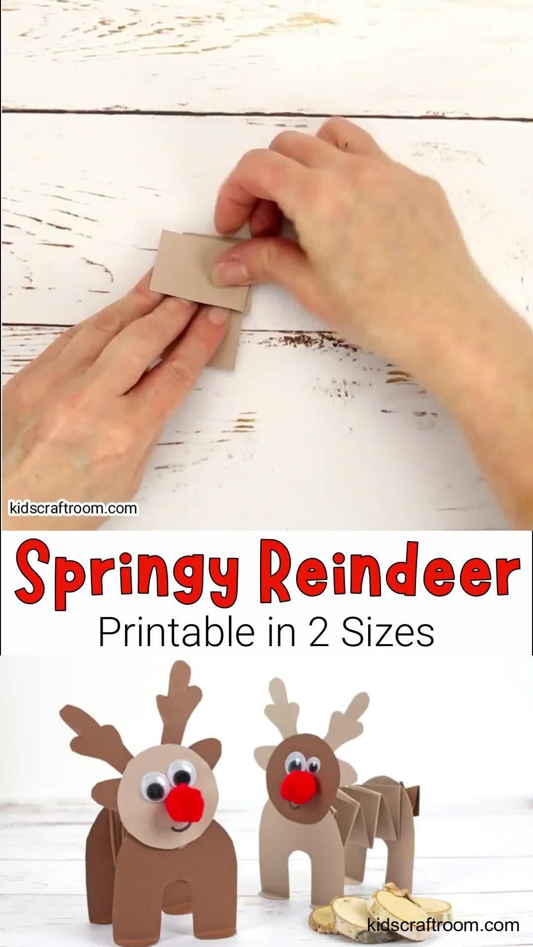 Photo of Printable Paper Reindeer Craft