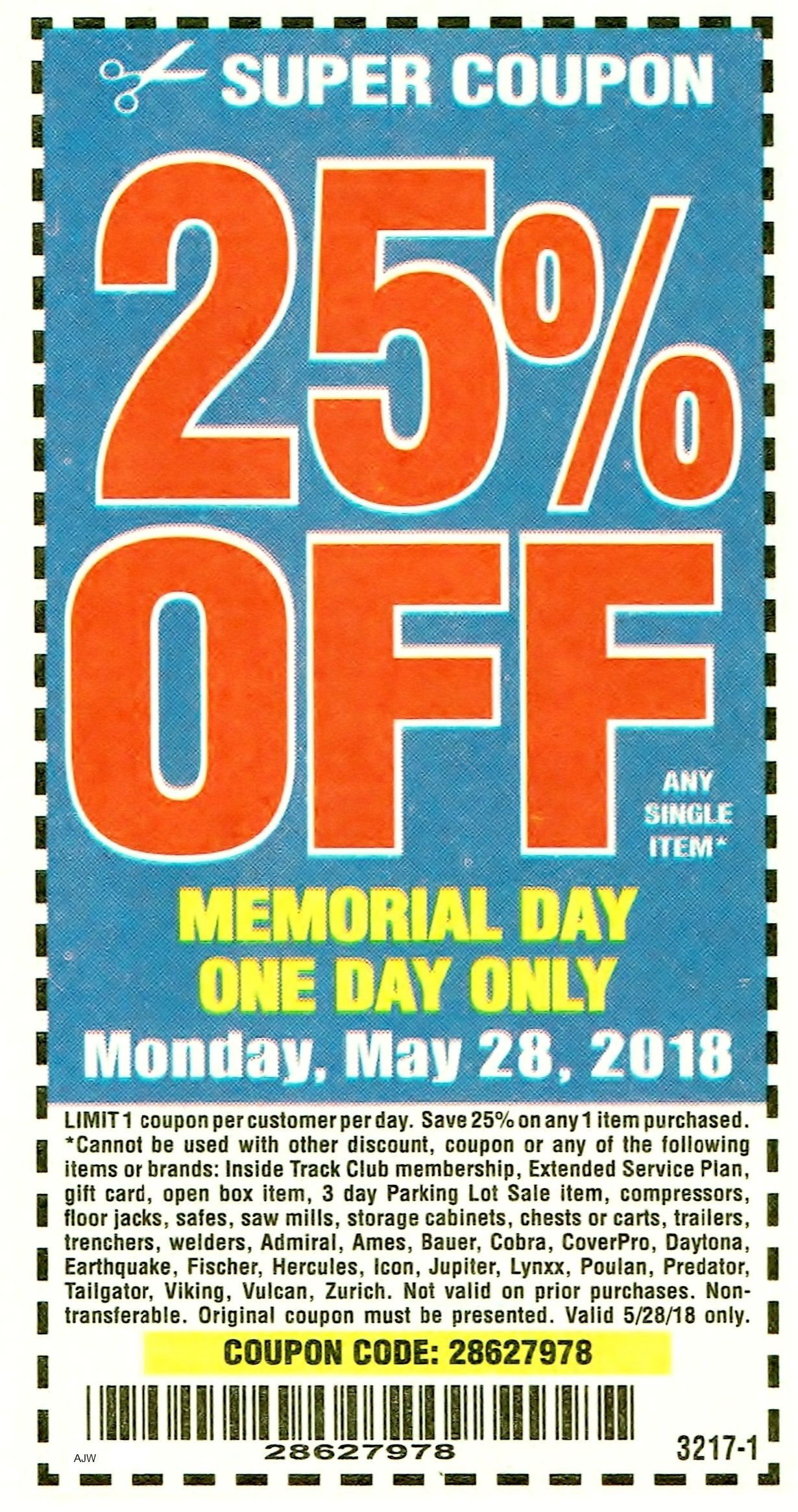 Harbor Freight 25 percent off coupon Harbor freight