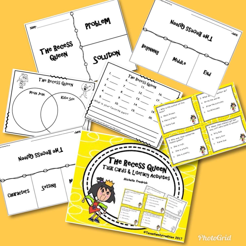 The Recess Queen Task Cards Amp Literacy Activities