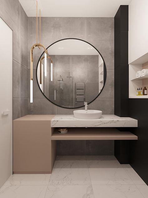 Espejos Redondos Nueva Tendencia En Banos Casa Nueva Pinterest - Espejos-redondos-para-baos