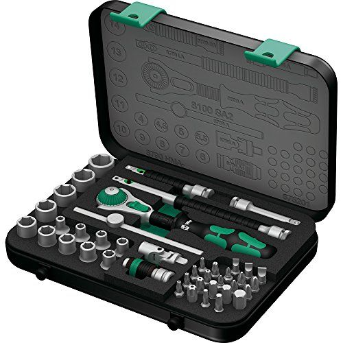 Wera 8100 SA 2 Zyklop 14 Metric Ratchet Set 41Pieces ** Click on the image for additional details.