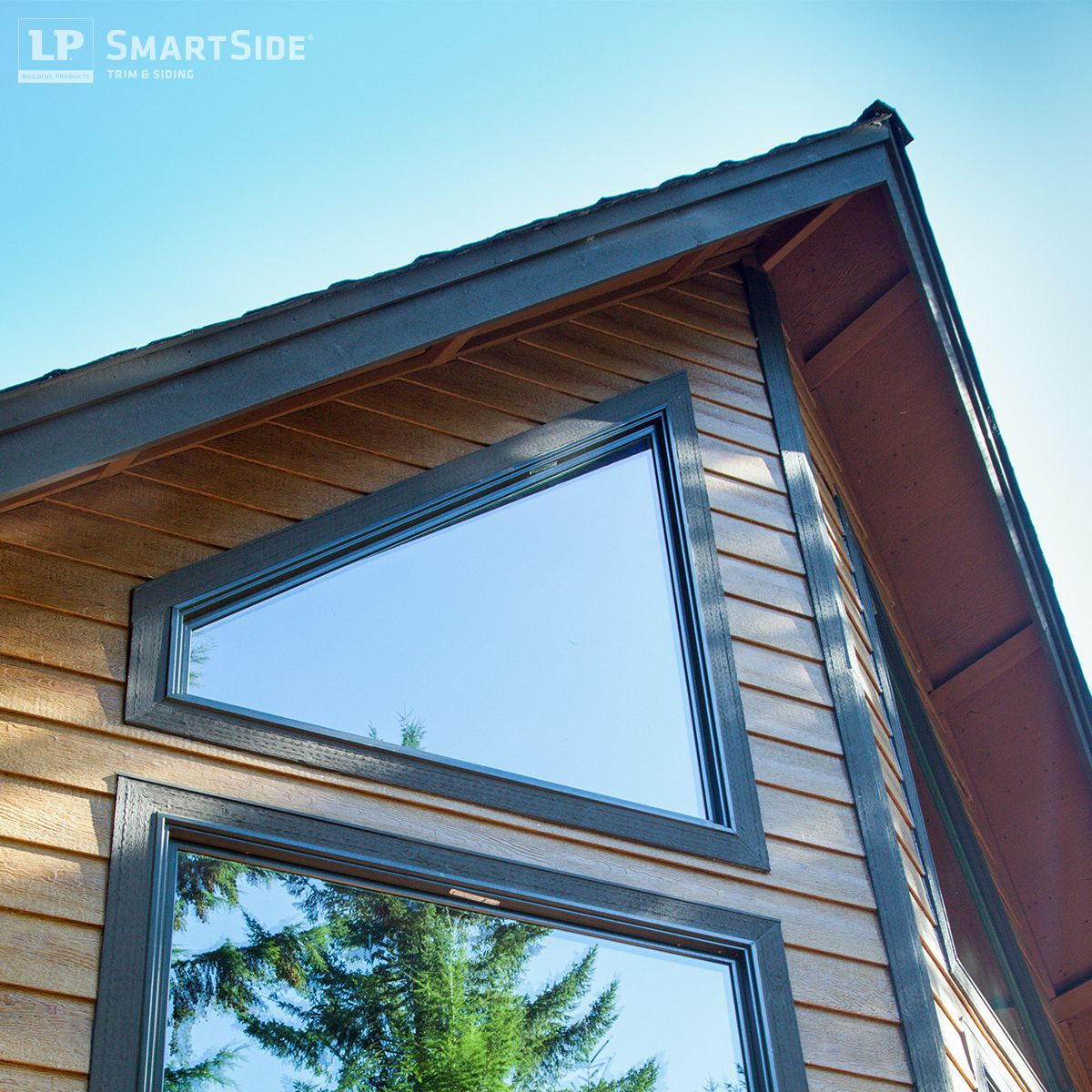 This photo shows one example of how lp smartside siding for Lp smart siding colors