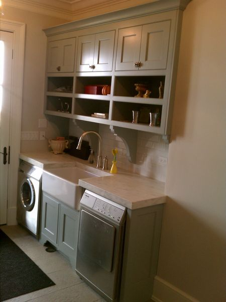 10x10 Laundry Room Layout: Laundry Room Cabinets With Shelving Below