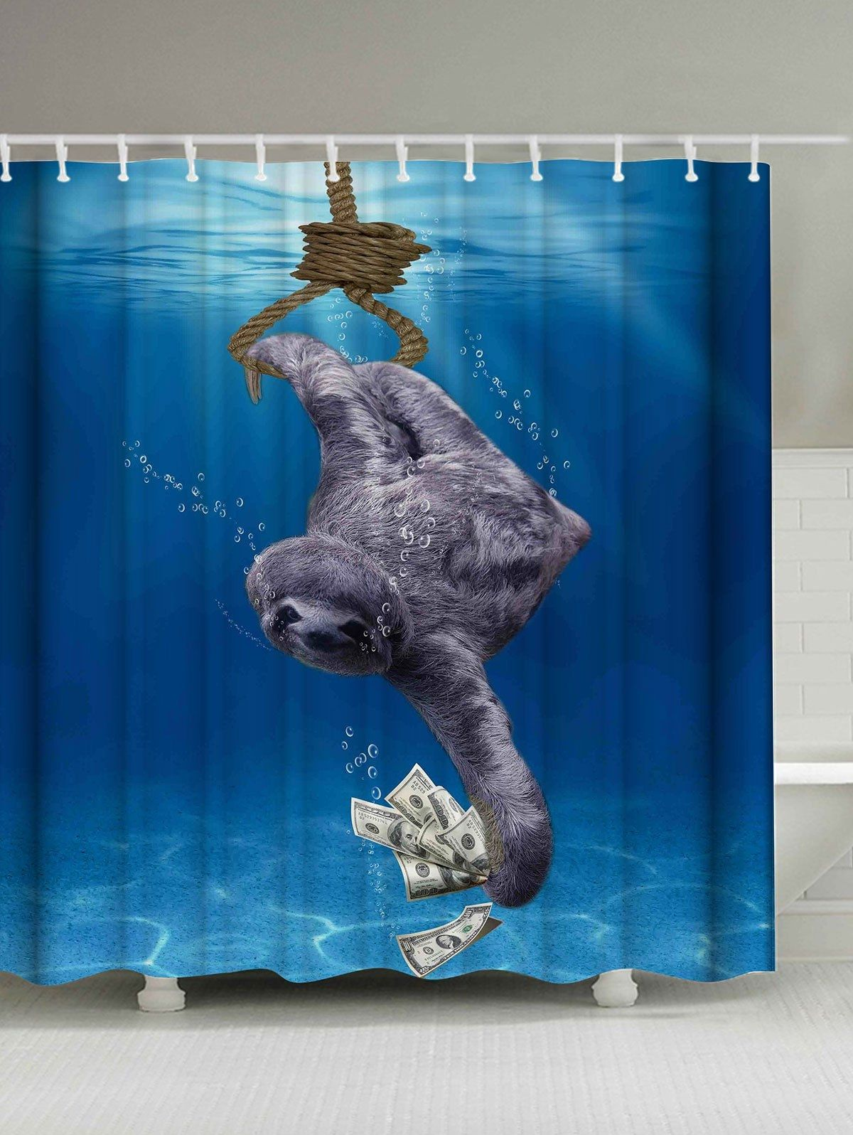 Blue Dolphin Shower Curtain Hooks