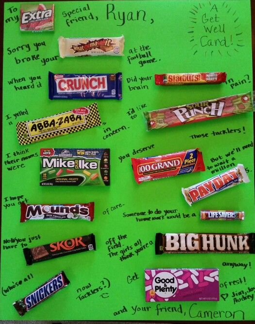 Candy Bar Poster Get Well Card Omg This Is So Cool I