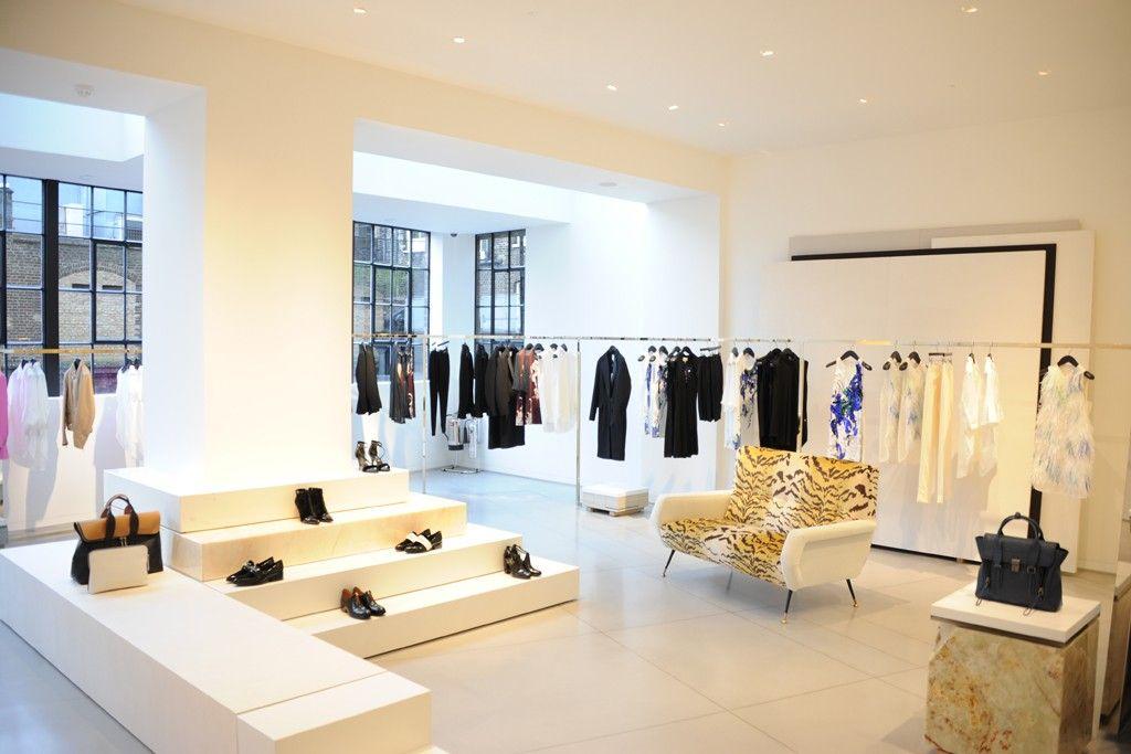 3 1 phillip lim lands in london retail exterior design for Retail interior designers in london