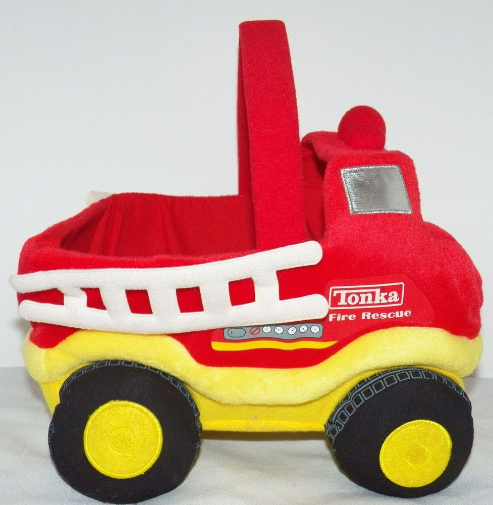 Tonka Toy Truck Firetruck Halloween Basket Bucket Plush Toy ...