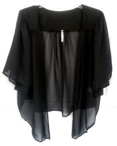 Womens Plus Size Bolero Shrug Cardigan Top Solid Shirred Short ...