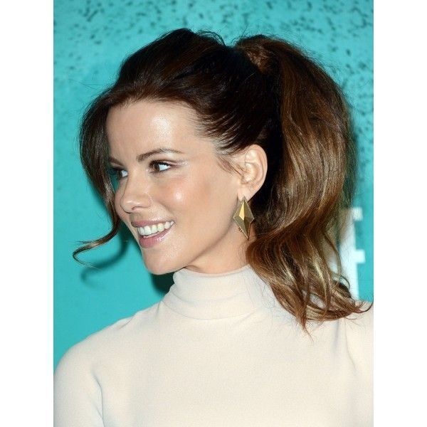 Kate Beckinsale's Big Pony Hairstyle Kate Beckinsale Hairstyles pictures found on Polyvore