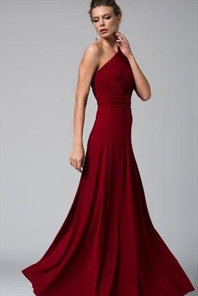 Murdum Tek Omuz Elbise Elbise Resmi Elbise The Dress