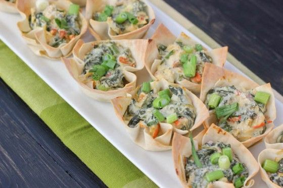 Baby Spinach Cups   Bake Your Day