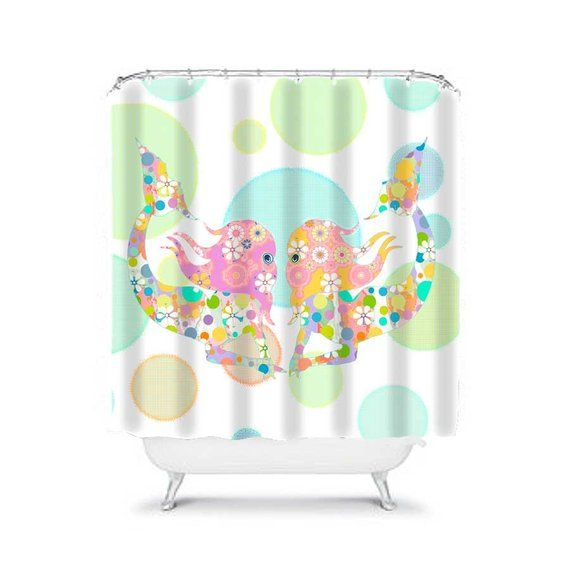 Mermaid Shower Curtain Kids Bathroom Decor Kids Shower Curtains