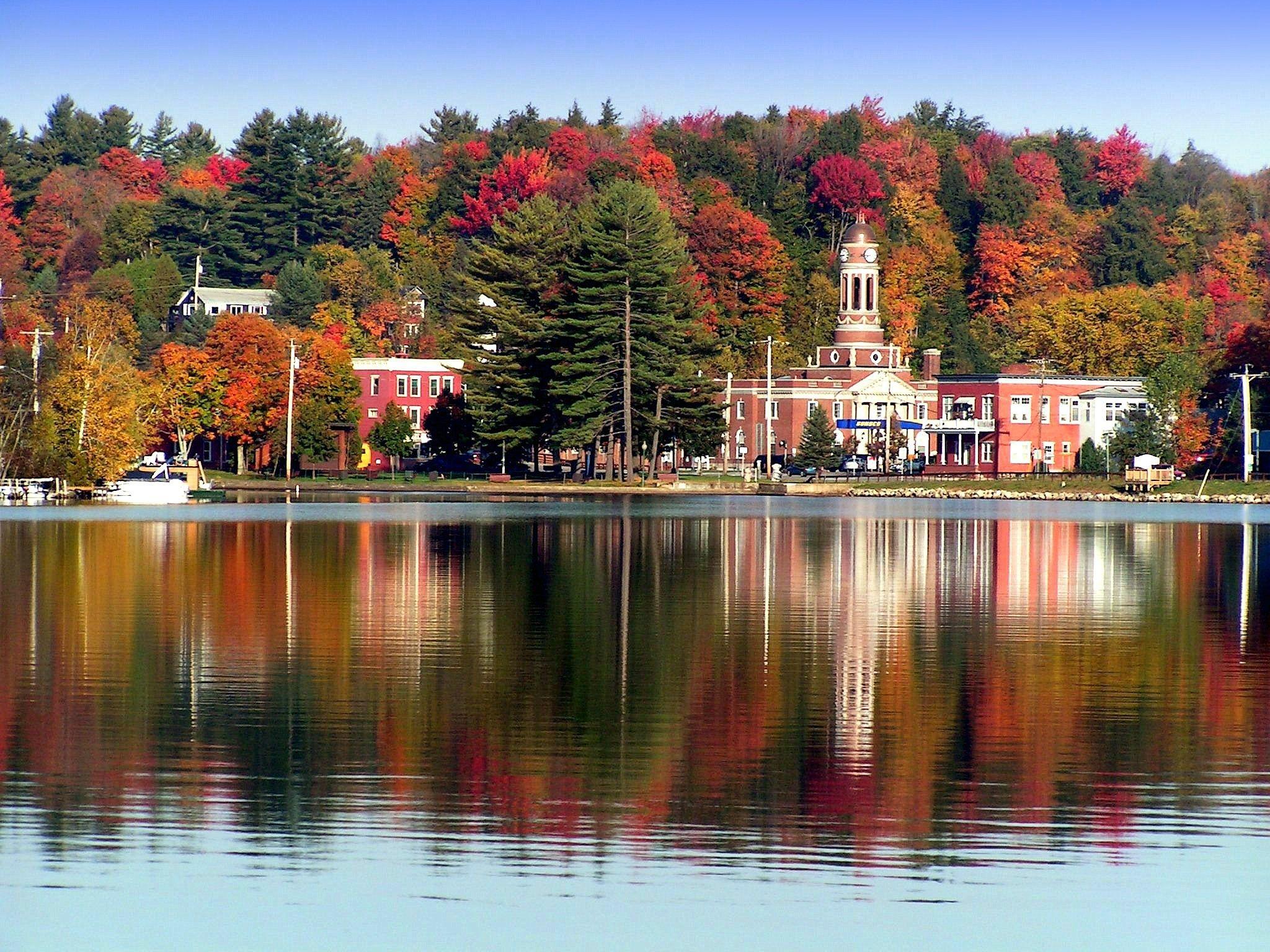 Lake Flower,Saranac Lake, NY, Hwy 3, Oct 8, 2004