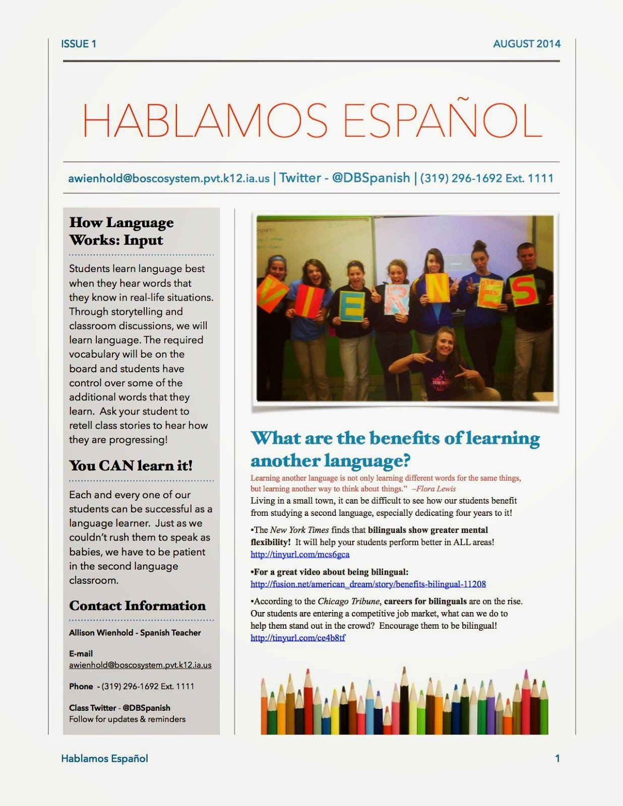 Mis Clases Locas Quick Tip  Parent Newsletter  Spanish