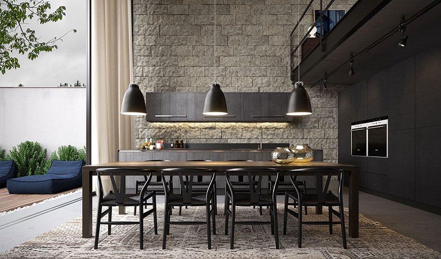 Sala Da Pranzo Moderna Immagini : Idee per arredare una sala da pranzo moderna soggiorno sala