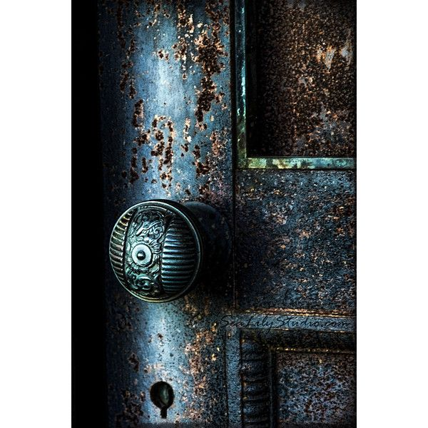 Secret Door cemetery photography blue door midnight gothic relic dark... (€28) ❤ liked on Polyvore featuring home, home decor, teal home accessories, green home decor, teal blue home decor, teal home decor and green home accessories