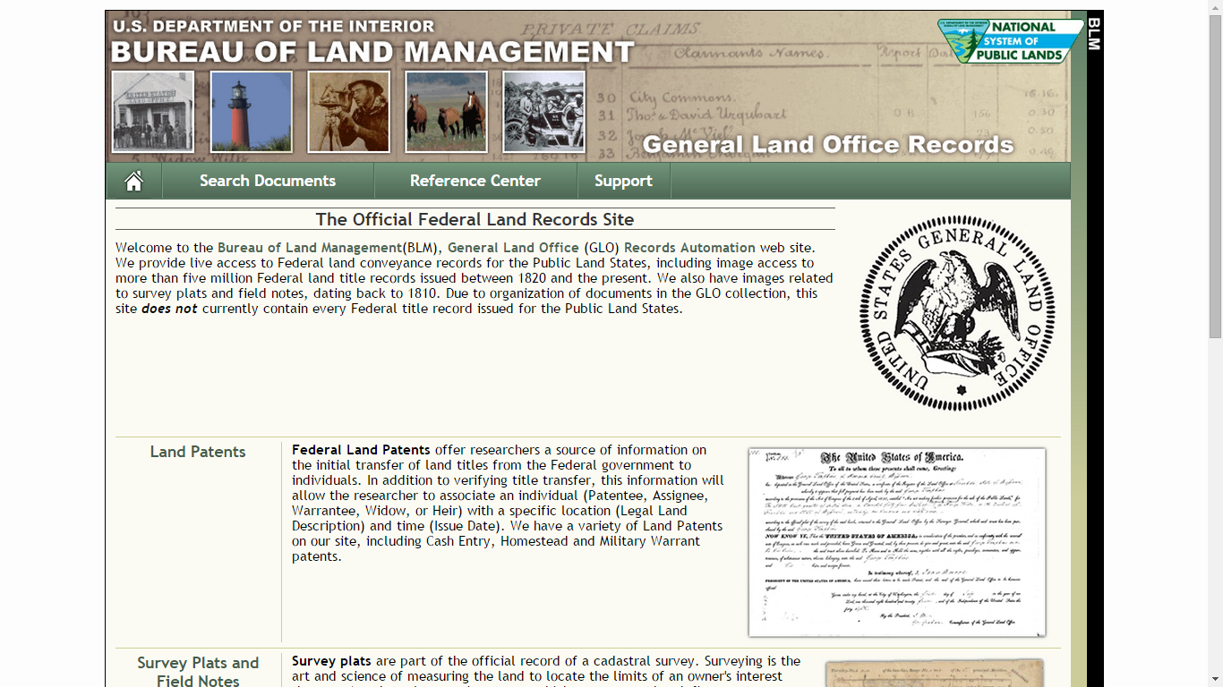 Tuesday S Tip Use The Improved Blm General Land Office Website To Find Federal Land Patent Locations Family History Bureau Of Land Management Records Search