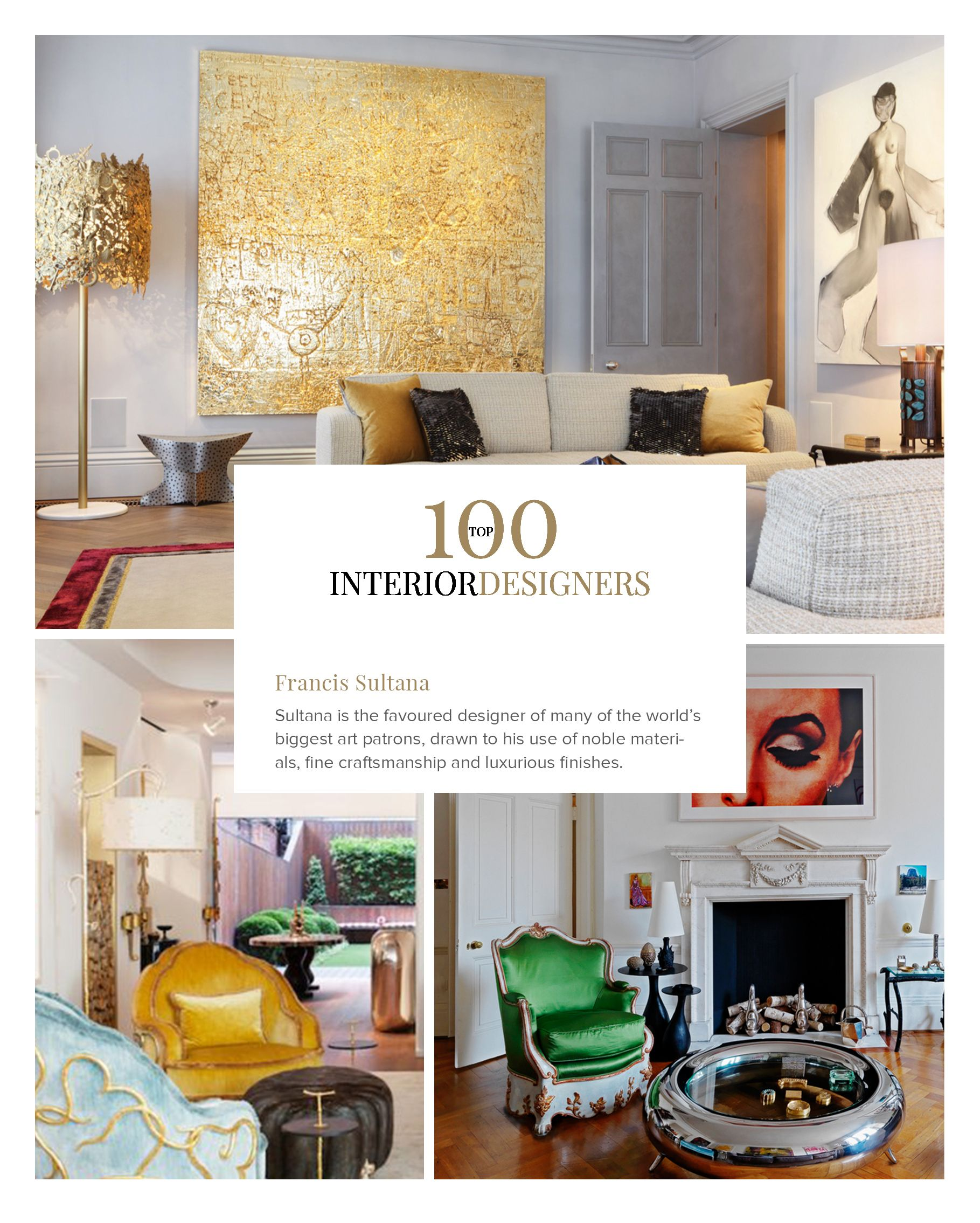 100 Best Interior Designers by Boca do Lobo and Coveted