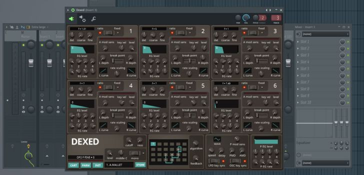 Dexed free FM synthesizer + 3,000 presets