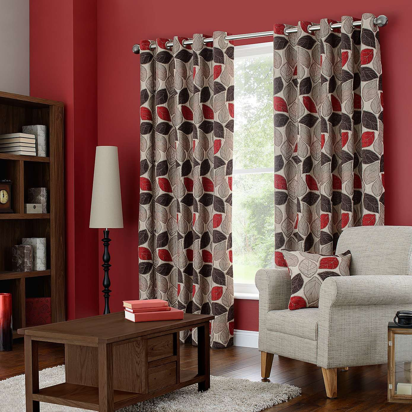 Exceptional Sherwood Red Lined Eyelet Curtains | Dunelm Part 21