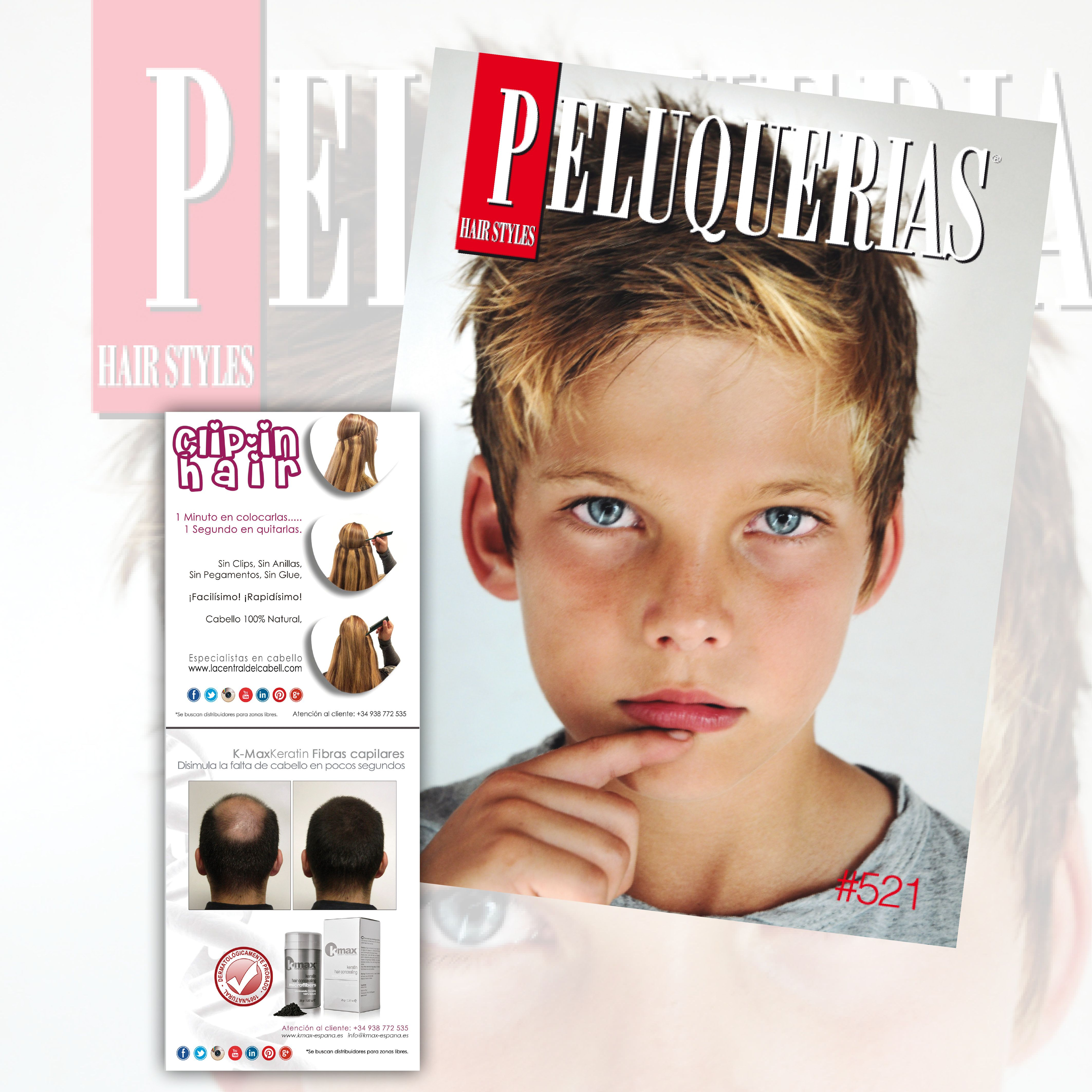 LA CENTRAL DEL CABELL visto en/as seen on #revistapeluquerias #PHS521 +info http://facebook.com/lacentraldelcabell …  +34 938 772 535