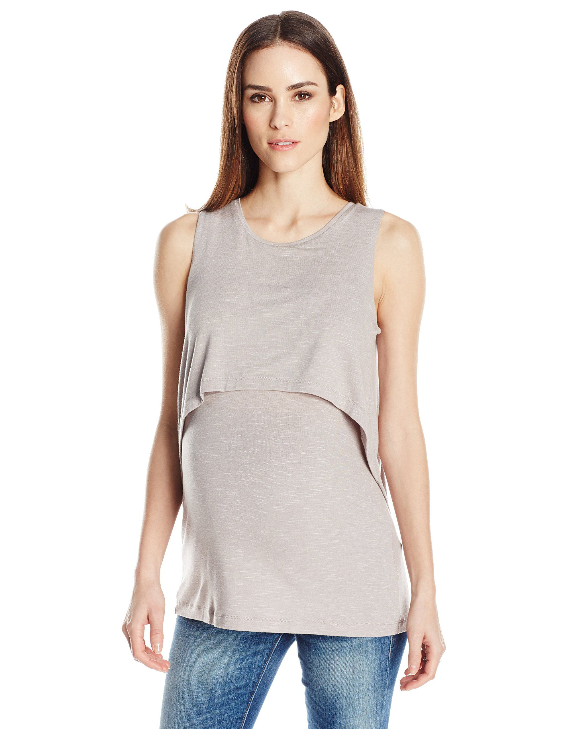 43bda37e5e76f nursing tops - Ripe Maternity Womens Maternity Summer Swing Back Nursing  Tank Sand XS * Click picture to assess more details. (This is an affiliate  link).