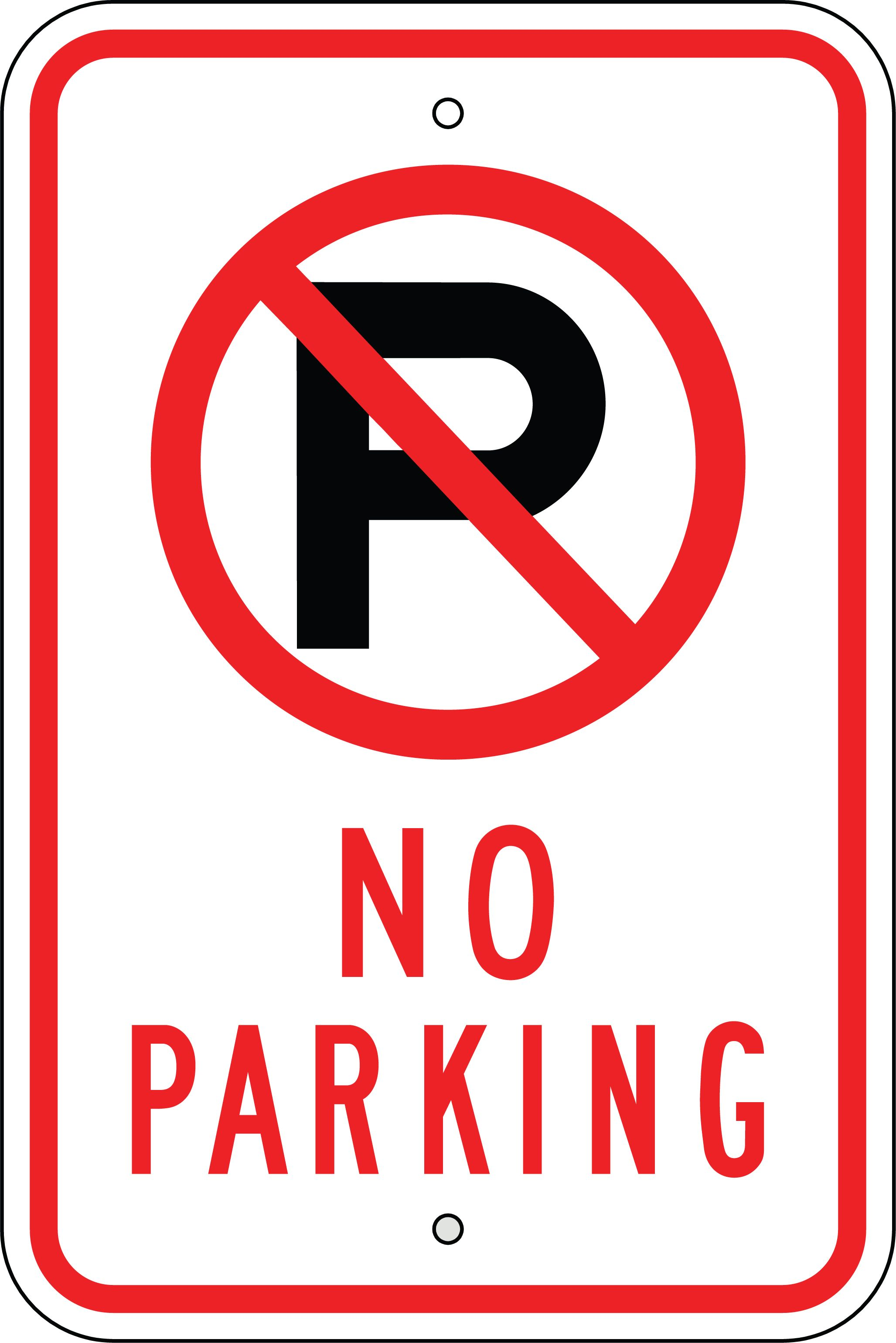 003 no parking signs Parking signs