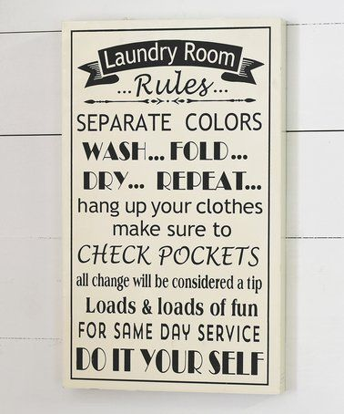 This Laundry Room Rules Wall Sign Is Perfect Zulilyfinds