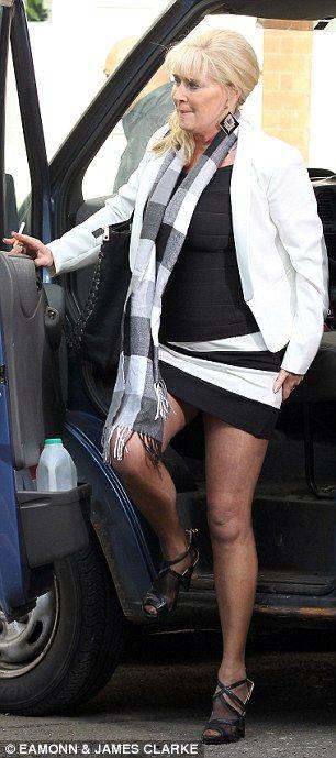 Mature lady posing at mcdonalds!