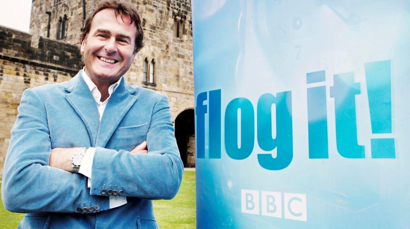 Paul Martin, presenter of BBC TV\'s Flog It! ....BBC2 antiques series ...