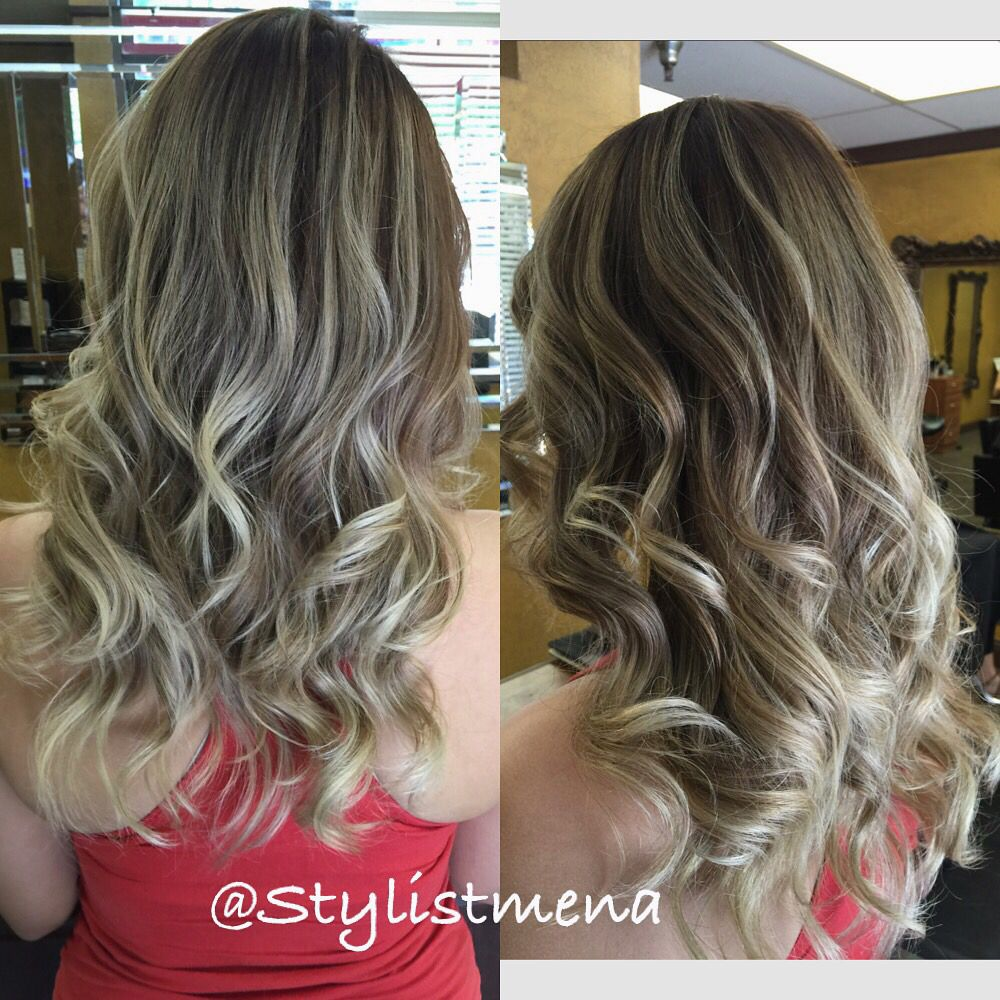 Pin On Highlight Balayage Color Haircut Done By Stylistmena Www Stylistmena Com