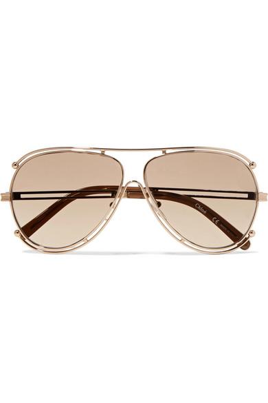c44c8a3d54ea Chloé - Isidora Aviator-style Gold-tone Sunglasses